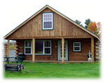Rent a Rustic, Two-Story Log Cabin - Available Year-Round!