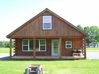 Log Cabin Rental Photos - Cabin in Winter - North Country Rivers
