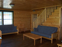 Log Cabin Rental Photos - Upstairs, View 2 - North Country Rivers