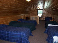 Log Cabin Rental Photos - Upstairs, View 1 - North Country Rivers